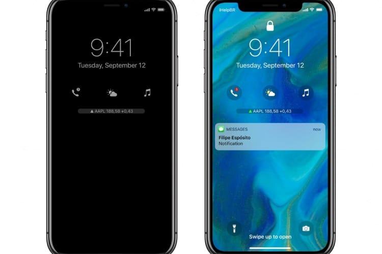 Concept: un écran d'accueil avec complications pour iOS12