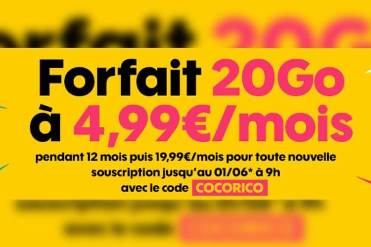 Promos: les forfaits à 4,99€ par mois prolongés chez Sosh, B&You et FreeMobile